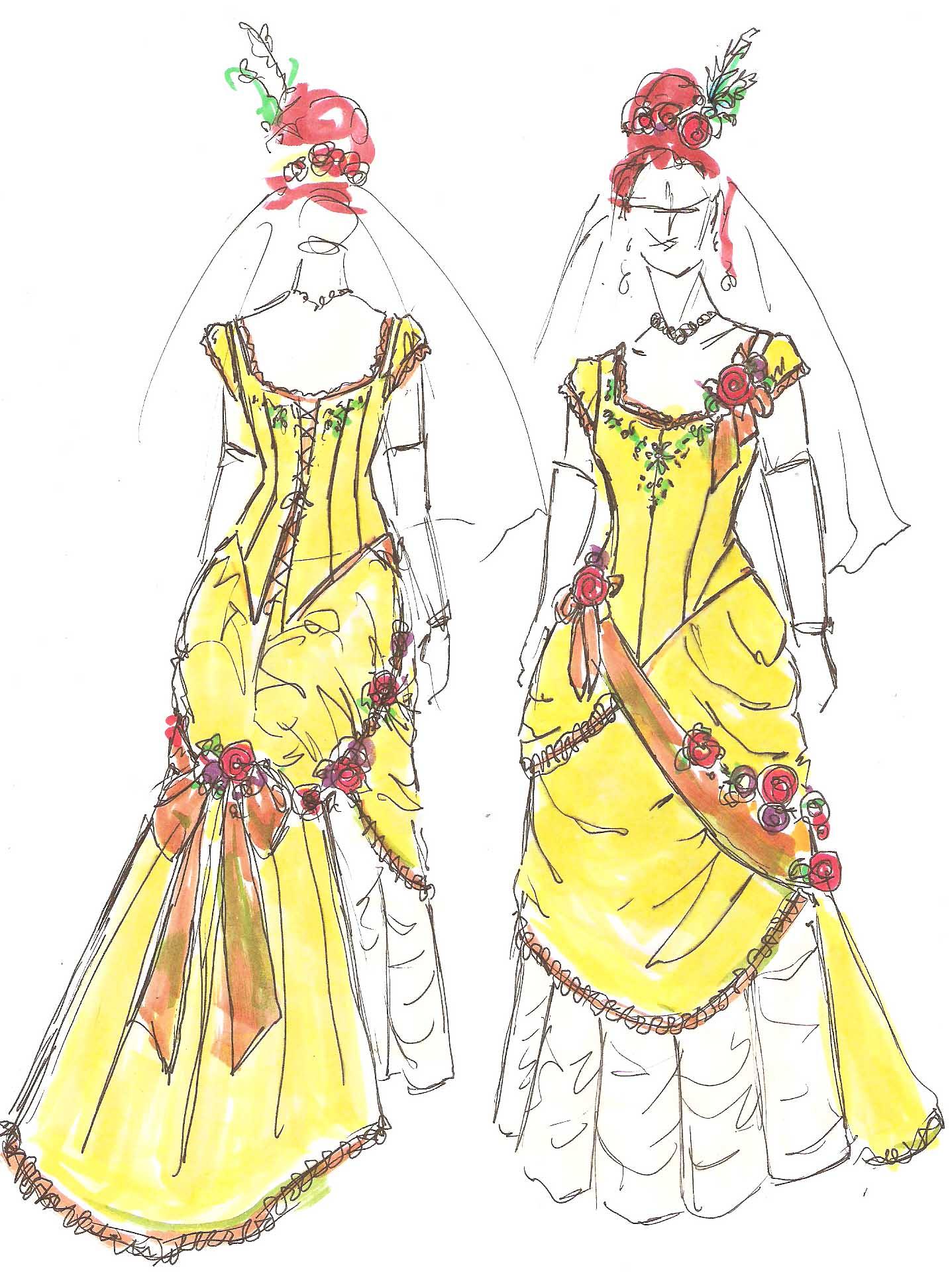 tag steampunk wedding dress steampunk wedding dresses Wedding Dress Sketch