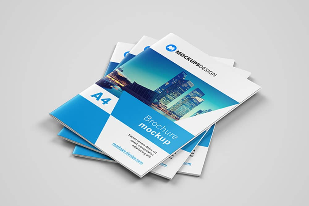 Download This Free Brochure Mockup in PSD   Designhooks Free Brochure Mockup in PSD