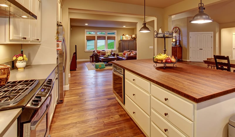 Types of Flooring Materials for Interior Design   Designing Idea Types of Flooring Materials for Interior Design  Hardwood floor in the  kitchen