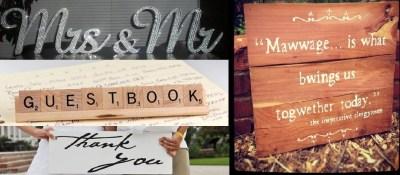 Simple Wedding Decor Ideas - Wedding Signs - Wedding Ideas ...