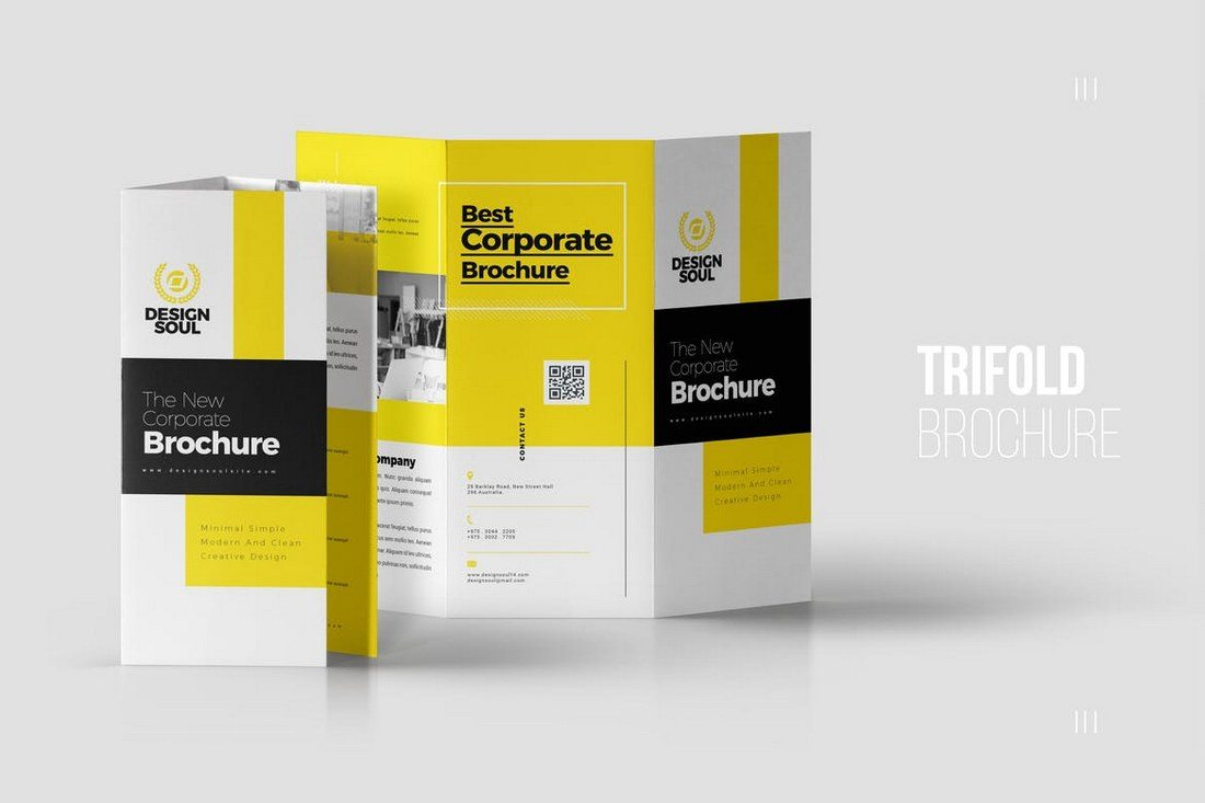 20  Best Tri Fold Brochure Templates  Word   InDesign    Design Shack This tri fold brochure template features a clean and a professional design  that s perfect for presenting a brand or a business related to advertising  or