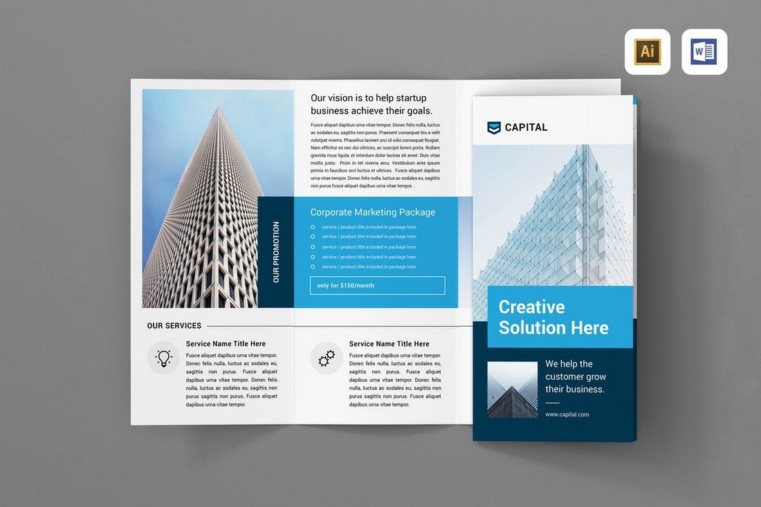 20  Best Tri Fold Brochure Templates  Word   InDesign    Design Shack This is a multipurpose tri fold brochure template that can be used to design  a leaflet for many different types of businesses  including corporate   agency
