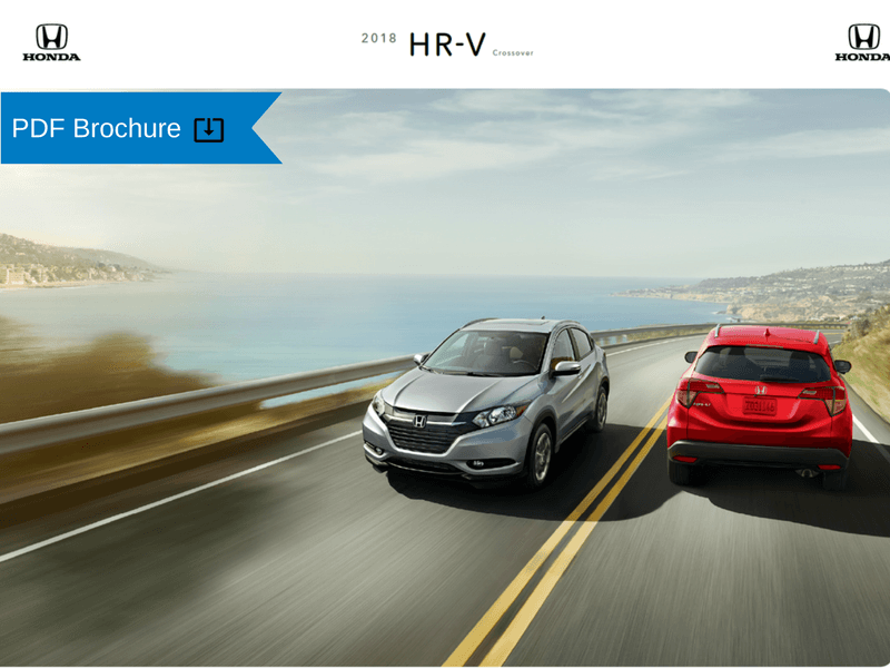 2019  2018 Honda Brochures   Patty Peck Honda Research 2018 Honda HR V Brochure img