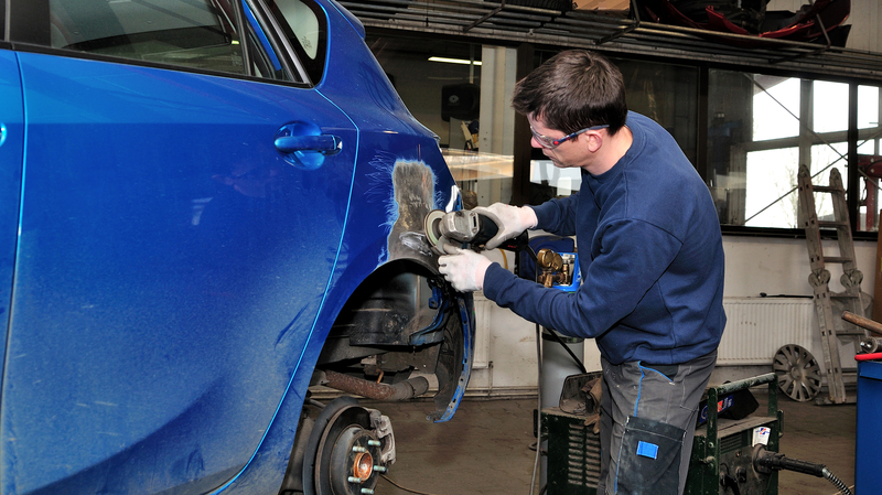 Auto Body Shop at Schlossmann Honda City Our collision repair technicians are certified so you can rest assured that  your car  truck  or SUV will be worked on by experts who really care
