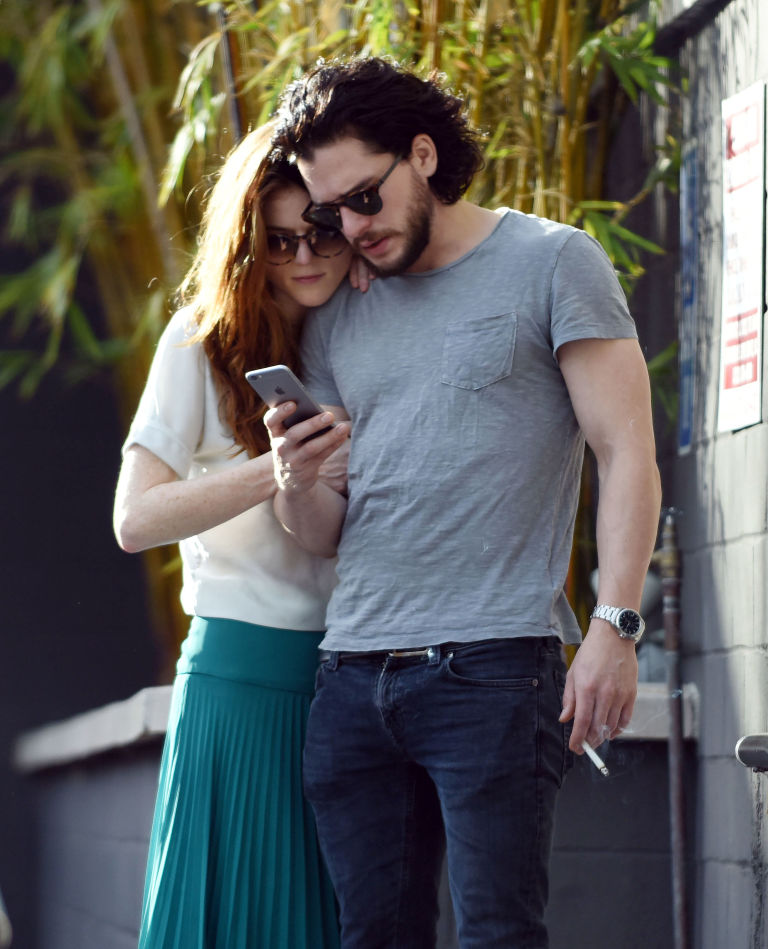 Jon Snow and Ygritte are back together  Kit Harington and Rose     Kit Harington and Rose Leslie during a shopping spree in Los Angeles