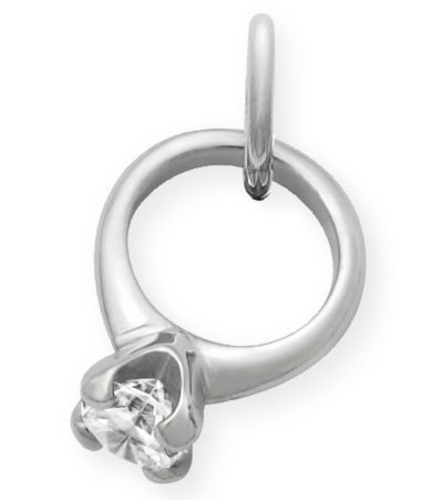 james avery wedding bands James Avery Engagement Ring Charm with Cubic Zirconia