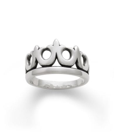 james avery wedding bands James Avery Sterling Silver Crown Ring