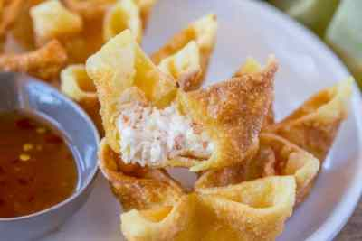Crab Rangoon - Dinner, then Dessert