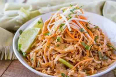 Chicken Pad Thai - Dinner, then Dessert