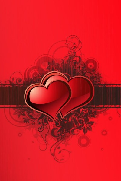 640x960 HD iPhone Wallpaper: Two Red Love Heart : 【Love】iPhoneかわいい壁紙集【Heart】 | iPhone壁紙ギャラリー