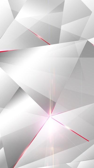 白と赤のポリゴン | スマホ壁紙/iPhone待受画像ギャラリー