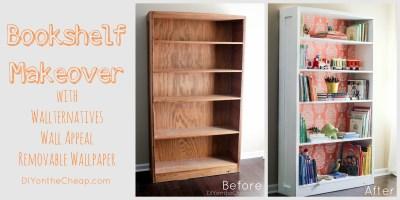 Bookshelf Makeover: Before & After - Erin Spain