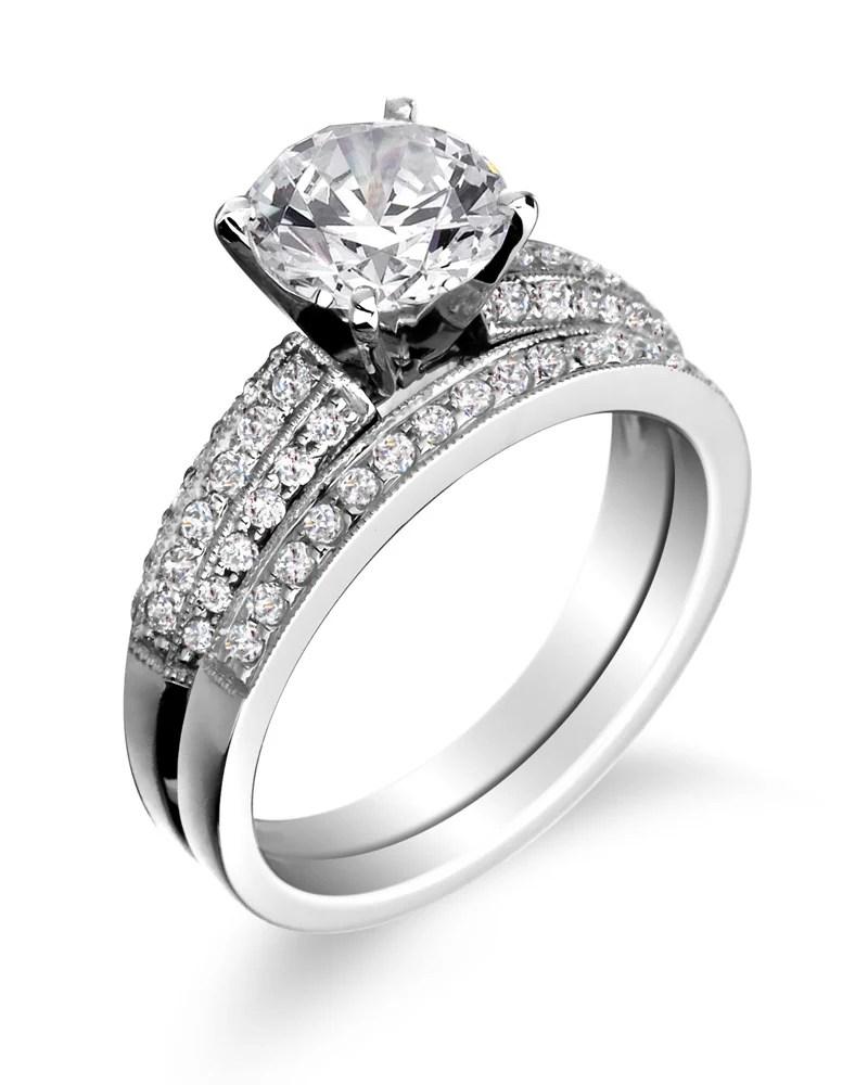 engagement rings wedding bands engagement wedding rings Engagement ring with wedding band