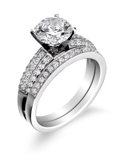 engagement rings wedding bands wedding rings pictures Engagement ring with wedding band