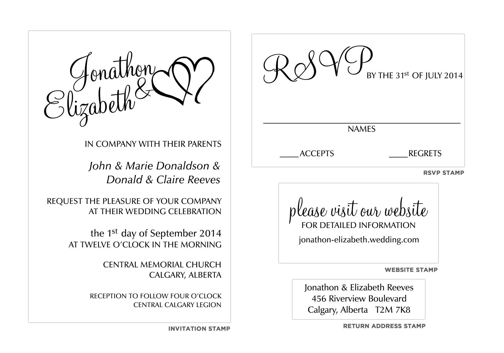 calligraphy wedding invitation stamp set wedding invitation stamps Calligraphy Wedding Invitation Stamp Set