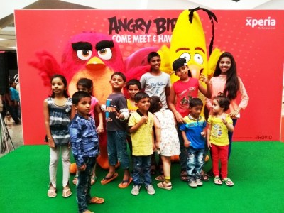 When the Angry Birds took Xperia Mall, Pallava CIty by ...