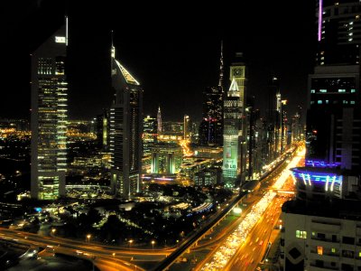 Photograph Night-time in Dubai by Tom Revy on 500px