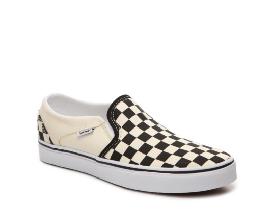 Vans Asher Checkered Slip On Sneaker   Women s Women s Shoes   DSW Asher Checkered Slip On Sneaker   Women s