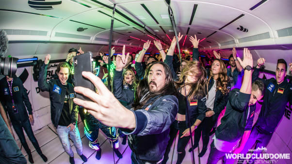Zero gravity party where dancers float on air   CNN Travel Zero gravity dance party