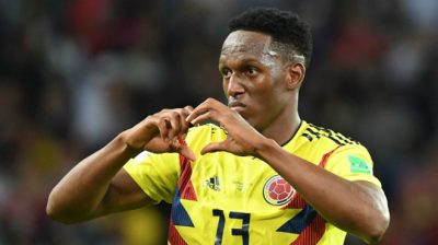 FIFA World Cup 2018 - Colombia vs England: Yerry Mina ...