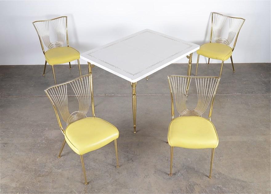 vintage walter wabash laminate kitchen table and four chairs laminate kitchen table Vintage Walter Wabash Laminate Kitchen Table and Four Chairs