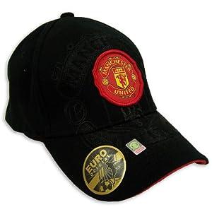 Amazon.com : MANCHESTER UNITED SOCCER OFFICIAL LOGO CAP HAT SIZE L-XL : Sports Fan Baseball Caps ...