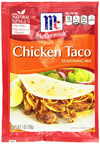 McCormick Taco, Chicken, 1 Ounce Units (Pack of 12) Food, Beverages Tobacco Food Items ...