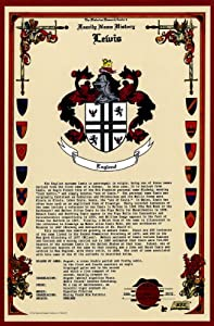 Amazon.com: Lewis Coat of Arms/Crest and Family Name History, meaning & origin plus Genealogy ...