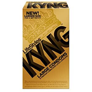 Amazon.com: Lifestyles Kyng Gold Condoms, Large, 12-Count ...