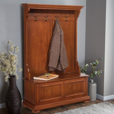 Home Styles 5527-49 Homestead Hall Tree and Storage Bench ...