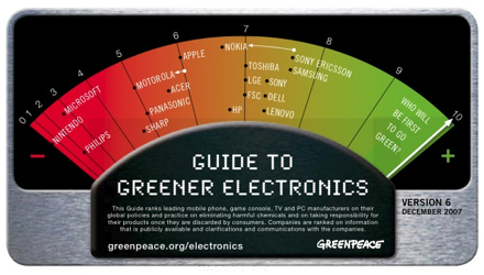 Green Peace Guide to Greener Electronics