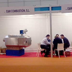Pellet burner at Expobiomasa Valladolid