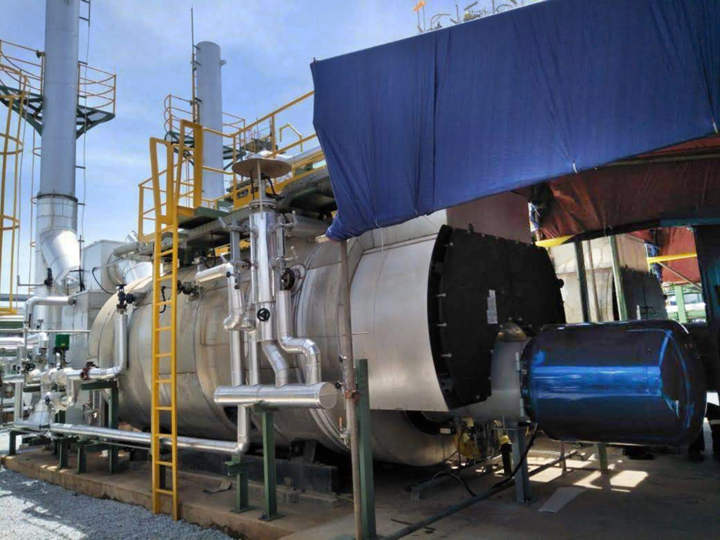 Industrial burners at the Batam rubber refinery, in Indonesia | E&M Combustion