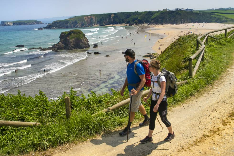 Travel in Spain  Twelve things you didn t know about the Camino de     The coastal path at the Asturian beach of Pe    arronda