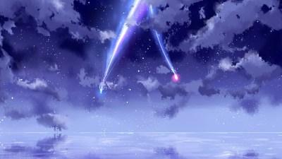 Fondos de pantalla Tu nombre, hermoso cielo, meteoro, anime 3840x2160 UHD 4K Imagen