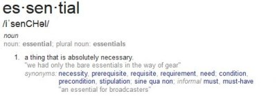 Essential-Definition - Essential Content