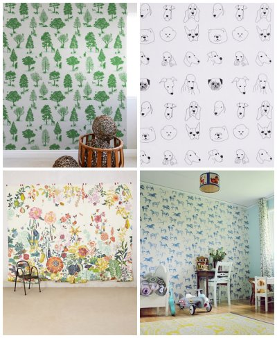 21 Wallpapers for Kids' rooms - Hither & Thither
