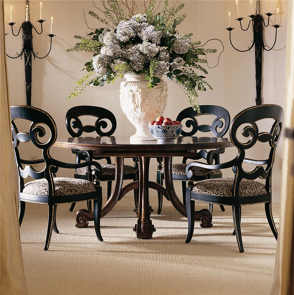 oak round dining table set for 4 round kitchen table set Antique Round Dining Table Set for 4