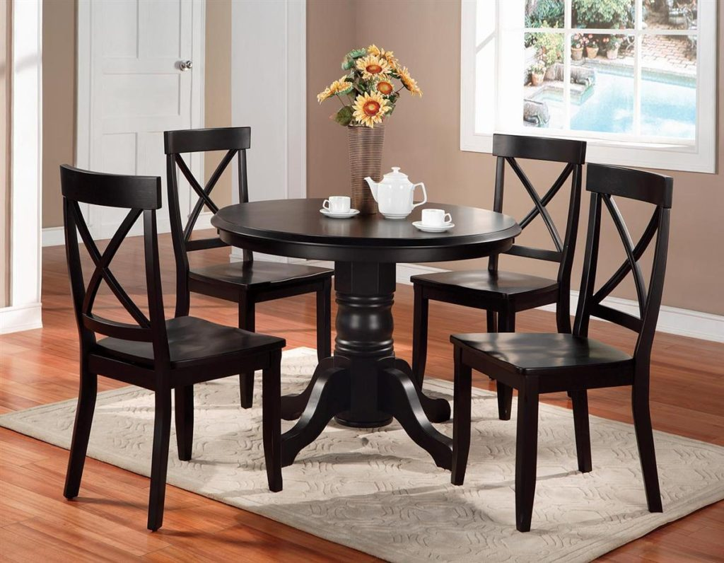 path included kitchen round table set Round Dining Table Set 4 for Small Dining Room