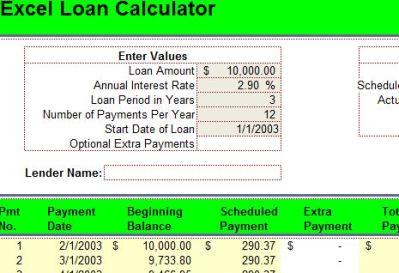 Excel Loan Calculator   Loan Calculator for Excel
