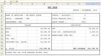 Get Salary Slip Format in Excel | Microsoft Excel Templates