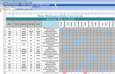 Excel Spreadsheet Template For Scheduling Spreadsheet Templates for Busines Monthly Work ...