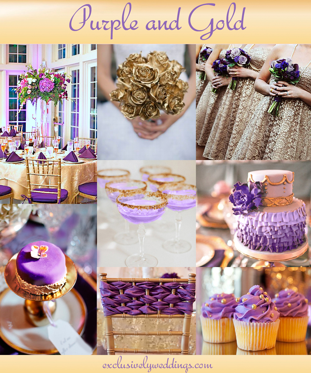 your wedding color pair with a metallic for stunning shine purple and gold wedding Purple and Gold Wedding Purple and Silver Wedding Colors Mint and Gold Wedding
