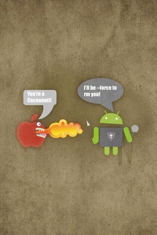 android vs mac apple iphone & ipod wallpaper | For more Appl… | Flickr