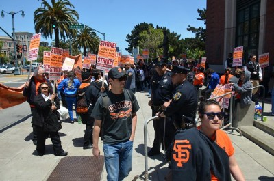 SF Giants concession workers stage one day strike | Flickr - Photo Sharing!
