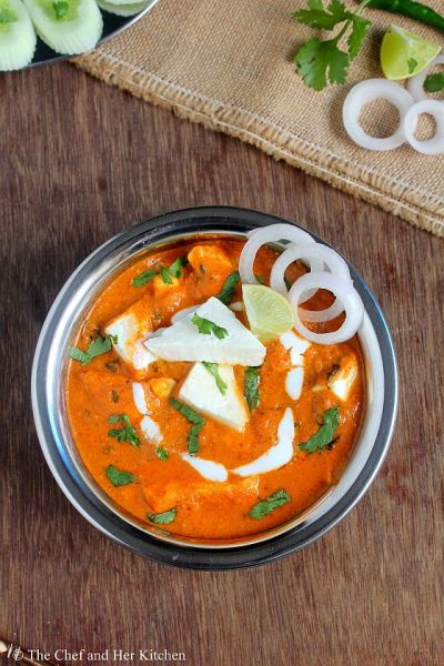 THE CHEF and HER KITCHEN: Paneer Butter Masala Recipe - Restaurant style