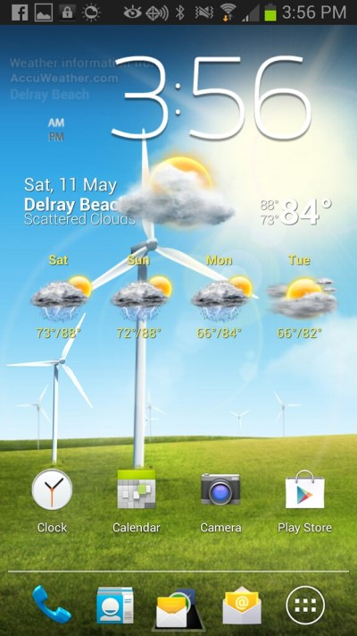 Windy Windmill Live Wallpaper not updating to current weather conditions? - Samsung Galaxy Note ...