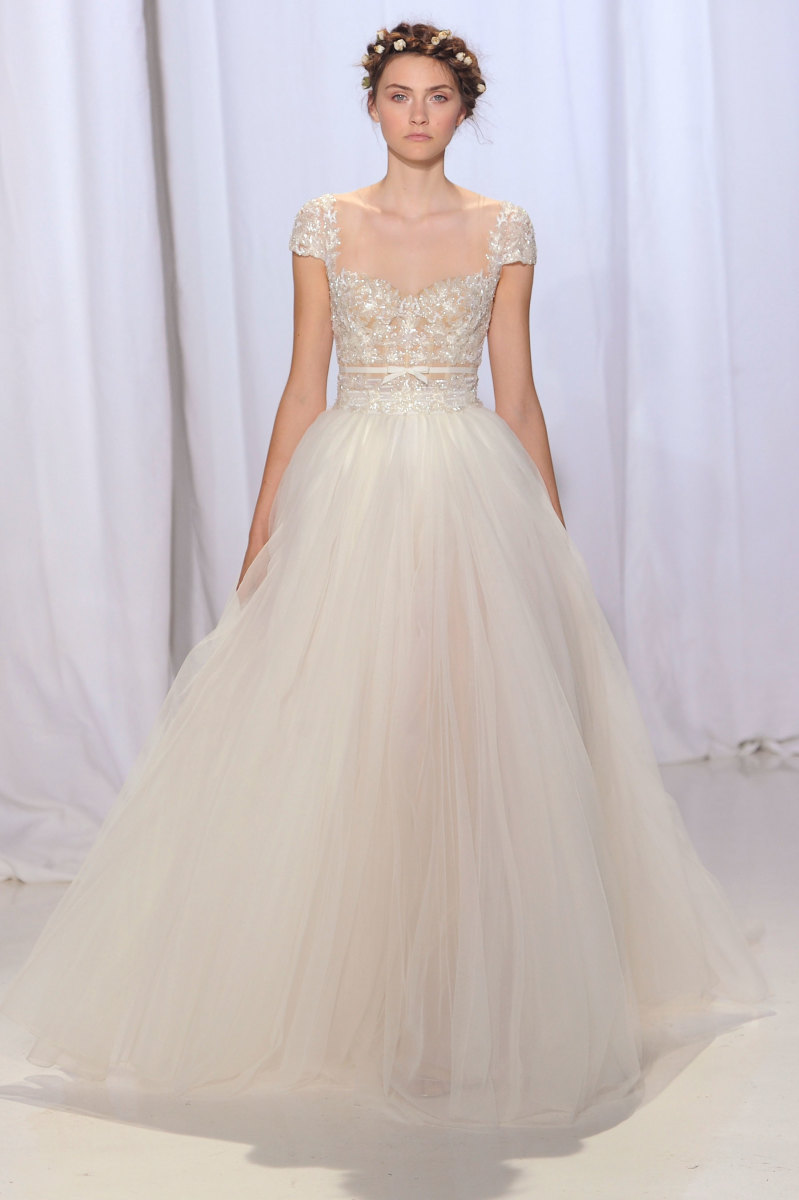 best wedding dresses fall best wedding dresses A look from the Reem Acra fall bridal collection Photo Imaxtree