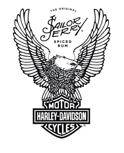Sailor Jerry Spiced Rum partnership with Harley-Davidson logo