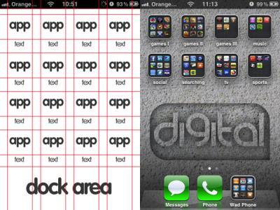 Iphone,Ipod Wallpaper template by Bushwad on DeviantArt